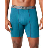 Hanes Men's Comfort Flex Fit Ultra Soft Cotton Stretch Long Leg Boxer Briefs 3-Pack CFFLC3