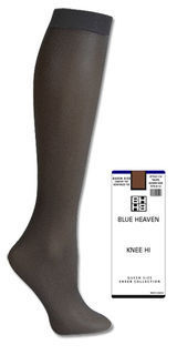 Blue Heaven Queen Size Sheer Knee High 113