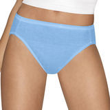 Hanes Womens Ultimate Cotton Comfort Hi-Cut Panties Assorted Colors & Prints 4-Pk 43KUC6