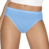 Hanes Womens Ultimate Cotton Comfort Hi-Cut Panties Assorted Colors & Prints 4-Pk 43KUC6
