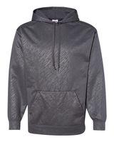 Badger Line Embossed Hooded Pullover Performance Fleece Sweatshirt 1431