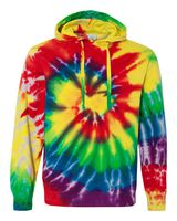 Dyenomite Multi-Color Spiral Pullover Hooded Sweatshirt 854MS