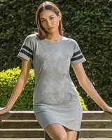 MV Sport Women's Varsity T-Shirt Dress W20422