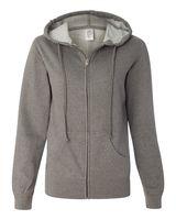 Independent Trading Co. Juniors' Lightweight Full-Zip Hooded Sweatshirt SS650Z