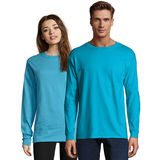 Hanes Adult Beefy-T Long-Sleeve T-Shirt 5186