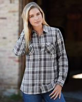 Weatherproof Vintage Women's Burnout Flannel Shirt W178573