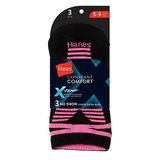 Hanes Womens X-Temp No-Show Socks 3-Pk 500/3