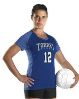 Alleson Athletic Girl's Dig Short Sleeve Volleyball Jersey A00234