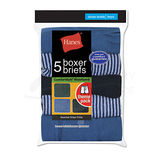 Hanes Boys Stripe Boxer Brief 5-Pk B755A5