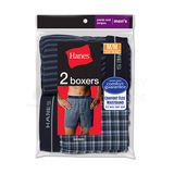 Hanes Mens Red Label Exposed Elastic Waistband Boxer 2-Pk 841VTY