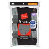 Hanes Boys Dyed Briefs 5-Pk B780P5