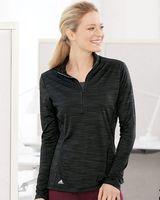 Adidas Women's Lightweight Melange Quarter-Zip Pullover - A476