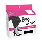 L'eggs To Go Plus Knee Highs 2 pair 15207