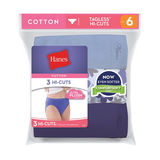 Hanes Women's Cotton Hi-Cuts 3-Pk D43LAS