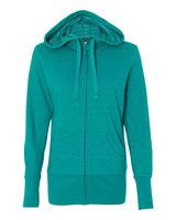 Independent Trading Co. Women's Baja Stripe French Terry Hooded Full-Zip Sweatshirt PRM655BZ