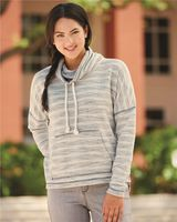 J. America Women's Baja French Terry Cowl Neck Pullover 8693