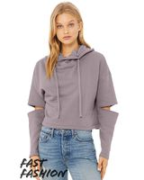 Bella + Canvas Fast Fashion Women's Cut Out Fleece Hoodie 7504