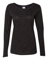 J. America Women's Glitter Long Sleeve T-Shirt 8236