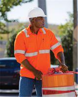 Red Kap High Visibility Safety Long Sleeve Work Shirt SS14HV