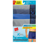 Hanes Men's X-Temp Air poly Boxer Brief Black/Grey 4-Pack UABB4B