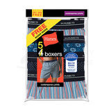 Hanes Mens Red Label Comfort Flex Woven Boxers 5-Pk 832BX5