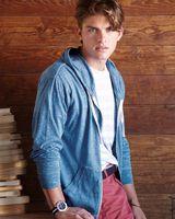 J. America Vintage Twisted Slub Full-Zip Hooded T-Shirt 8268