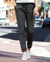 J. America Women's Glitter French Terry Fleece Jogger 8943