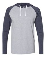 LAT Fine Jersey Long Sleeve Hooded Raglan T-Shirt 6917