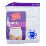 Hanes Womens Cotton Briefs 3-Pk D40L