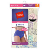 Hanes Womens Roses Limited Edition Briefs Assorted 6-Pk PP40F3