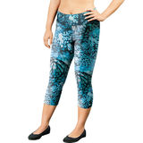 Champion Women's Plus Absolute Printed Capris With SmoothTec Band QM0979P
