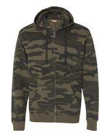Burnside Camo Hooded Full-Zip Sweatshirt 8615