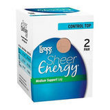 Leggs Sheer Energy Control Top ST 2-Pk Pantyhose 35400