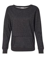 J. America Women's Glitter French Terry Crewneck Sweatshirt 8867