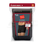 Hanes Classics Mens TAGLESS Stretch Dyed Boxer Briefs with Comfort Flex Waistband 4-Pk 7792AS