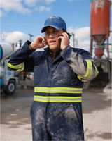Red Kap Enhanced Visibility Action Back Coverall - Long Sizes CT10ENL