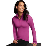 Maidenform Baselayer Thermal Mock Zip MFBLMZ