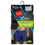 Hanes Men's X-Temp Performance Cool Long Leg Boxer Briefs 3-Pack MWBLA3