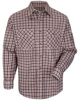 Bulwark Plaid Long Sleeve Uniform Shirt - Long Sizes SLD6L