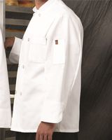 Chef Designs Button Chef Coat with Thermometer Pocket 0413