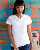 SubliVie Women's V-Neck Polyester Sublimation Tee 1507