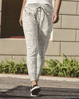 J. America Melange Fleece Women's Jogger Pants 8675