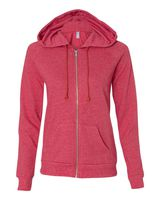Alternative Women's Eco-Mock Twist Adrian Hooded Full-Zip Sweatshirt 9573ey