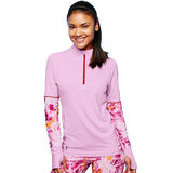 Duofold Womens Thermatrix Print 1/4 Zip KDC3QP