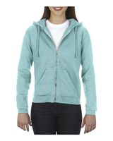 Comfort Colors Women's Garment-Dyed Full-Zip Hooded Sweatshirt 1598
