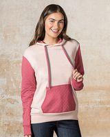 MV Sport Women's Cloud Fleece Quilted Hooded Sweatshirt W19145