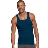 Hanes Men's FreshIQ ComfortSoft Dyed Assorted Colors Tank Undershirt 5-Pack 392DA5