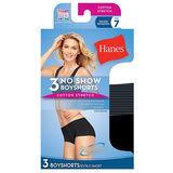 Hanes Women's Smooth Tech Boy Short 3-Pack SM47AS