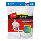 Hanes Men's Cushion Crew Socks 6-Pack 184/6