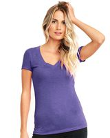 Next Level Women's Triblend Short Sleeve Deep V 6740